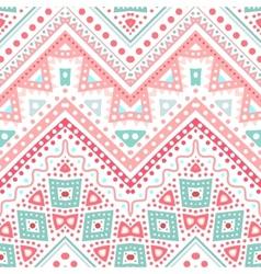 Tribal ethnic zig zag pattern vector image