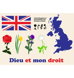 United kingdom symbols vector