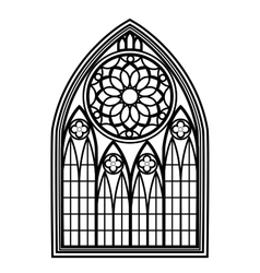 Window for churches and monasteries vector