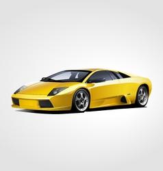 Yellow sport car vector