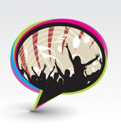 Party speech bubble icon vector