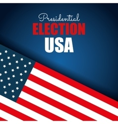 Flag usa election presidential blue background vector