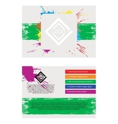 Abstract flayer vector