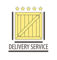best quality delivery logo isolated on white five vector image
