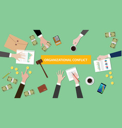 Organizational conflict situation vector