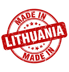 Made in lithuania vector