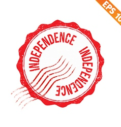 Rubber stamp independence - - eps10 vector