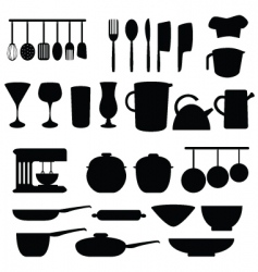 Kitchen and cookery vector