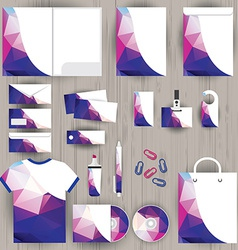 corporate identity triangle pattern design vector image