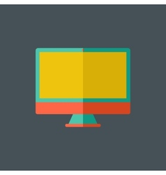 Computer flat icon vector