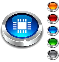 Cpu 3d button vector