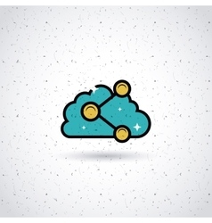 Sharing in the cloud design vector