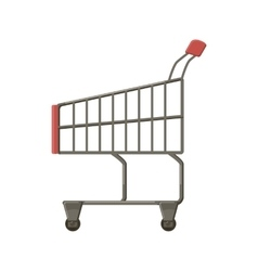 Shopping cart icon cartoon style vector image