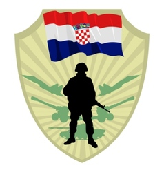 Army of croatia vector
