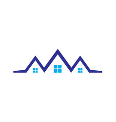 abstract roof house logo vector image vector image