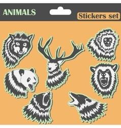 Animals stickers set vector