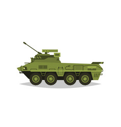 armored infantry vehicle exploration inspection vector image vector image