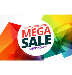 Awsome colorful sale banner design with offer vector