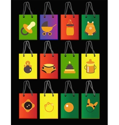 baby bags vector image vector image