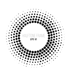 Black and white halftone dotted frame Stock vector image vector image