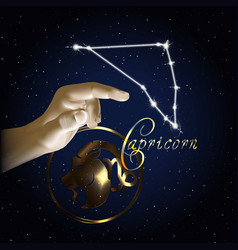 capricom astrology constellation of the zodiac vector image vector image
