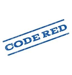 Code red watermark stamp vector