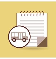 Concept bus school notebook desing vector