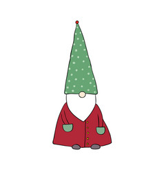 cute cartoon gnome funny elves vector image