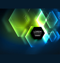 digital techno abstract background glowing vector image