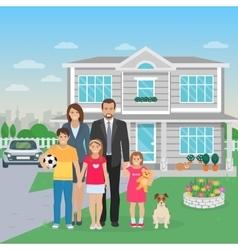 Family members flat vector
