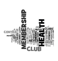 Fitness club text background word cloud concept vector