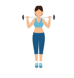 girl lifting weights exercise vector image