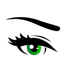 Green eye icon vector