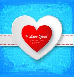 Greeting romantic template vector