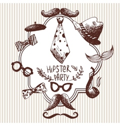 Hand Drawn Hipster Background vector image vector image