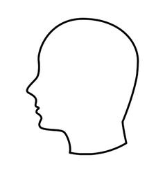 head human profile icon vector image