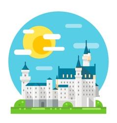 Neuschwanstein castle flat design landmark vector