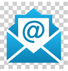 Open mail gradient icon vector