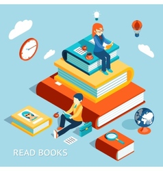 Read books concept vector image