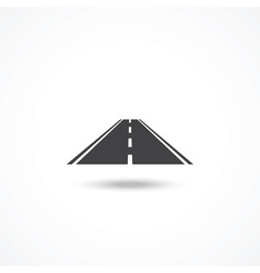 Road icon vector image vector image