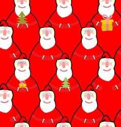 Santa claus seamless pattern background for new vector