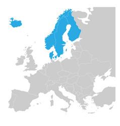 scandinavian states denmark norway finland vector image vector image