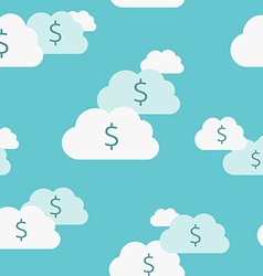Seamless money clouds vector image vector image