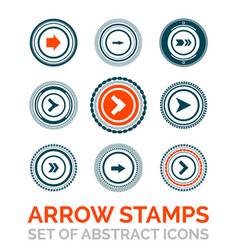 Set of arrow stamps vector