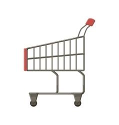 Shopping cart icon cartoon style vector image