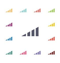 Volume level flat icons set vector