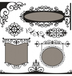 Wrought iron vintage vector