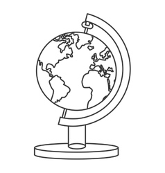 Spinning world map icon vector
