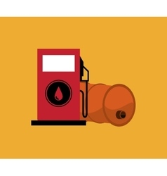 Gas pump with petroleum oil related icons image vector