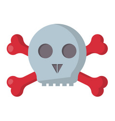 grunge danger scary skull symbol vector image